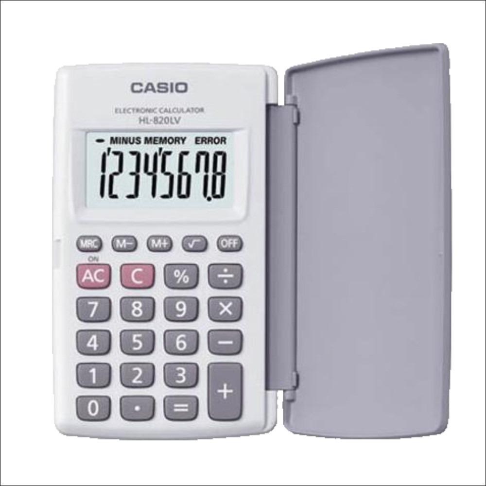 21d2e4ea0e9b Calculadoras  CALCULADORA CASIO DE BOLSILLO HL-820LV WE WHITE